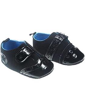 De los muchachos de fotos de bebé elegante color negro y antes caso del patrón walking con el diseño de zapatos...