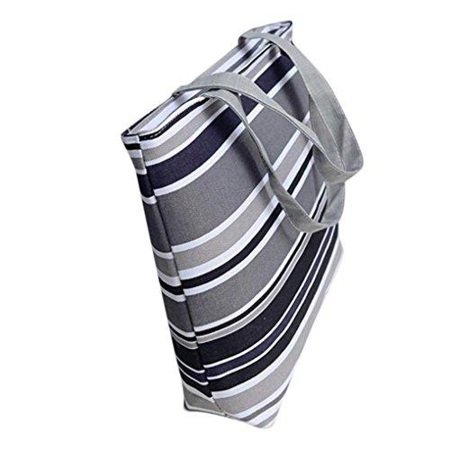 BZLine® Frauen Leinwand einkaufen Schulter Handtasche Tote Shopper Tasche, 42cm *32cm *9cm Grau