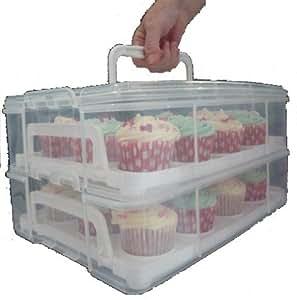 Boîte de transport 2 étages pour cupcakes