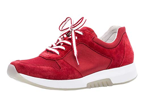 Gabor Damen Low-Top Sneaker 26.946.58, Frauen Halbschuh,Sportschuh,Schnürschuh,atmungsaktiv,red,36 EU / 3.5 UK