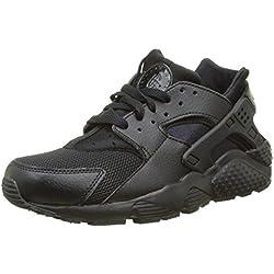 Nike Huarache Run (GS), Chaussures de Running Mixte Enfant, Noir Black, 38 EU