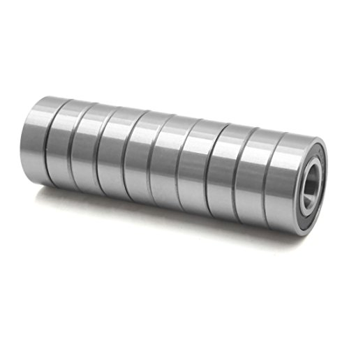 sourcing map 10stk 6202-2RS Metall Motorrad tief Hülle Radial Ball Lager 35 x 15 x 11mm de -