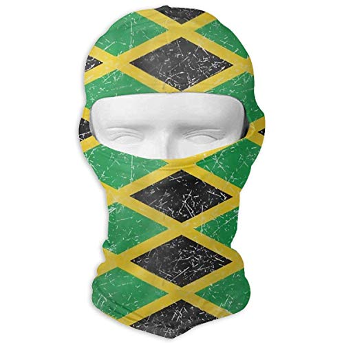Zcfhike Bandiera giamaicana Argyle Winter Tactical Full Face Mask Cappuccio a Prova di Polvere per Uomo e Donna Fashion14