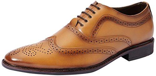 Symbol Men's Tan Formal Brogue Shoes- 9 UK/India (43 EU)(AZ-KY-87B)