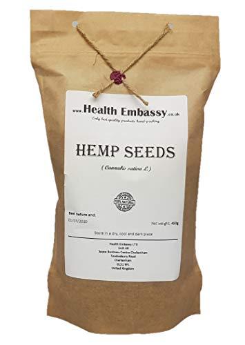 Hanfsamen (Cannabis sativa) 450g / Hemp Seeds - Health Embassy - 100% Natural -