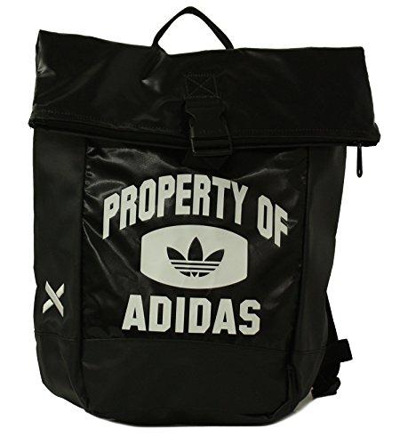 Adidas , zaino casual unisex adulti, nero (nero/bianco/nero), 33 eu