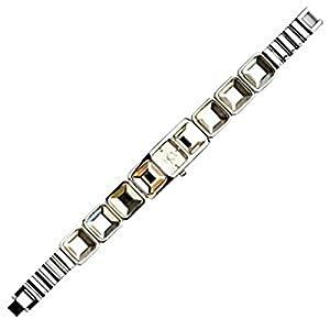 Eton 2858L 4 Clear – Reloj para Mujeres, Correa de Acero Inoxidable Color Plateado