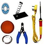 #2: Generic 6 in1 Electric Soldering Iron Stand Tool Wire Stripper Kit 25 Watt Welding Stick Set