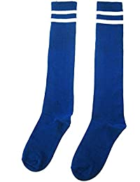 Long Socks Over Knee - SODIAL(R)Kids Sport Football Soccer Long Socks Over Knee High Sock (Blue)