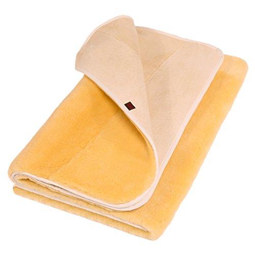 Lammfell Matratzenauflage COMFORT von CHRIST – Luxus Schlafauflage, Betteinlage, Bettauflage aus medizinischem, echtem Schaffell (kein Patchwork), Fell Bettunterlage in 70 x 140 cm