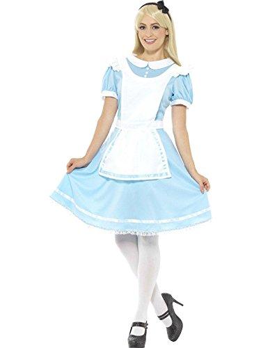 Prinzessinnen Kostüm, Kleid, Schürze und Haarband, Größe: 40-42, 41012 (Adult Alice Schuhe)