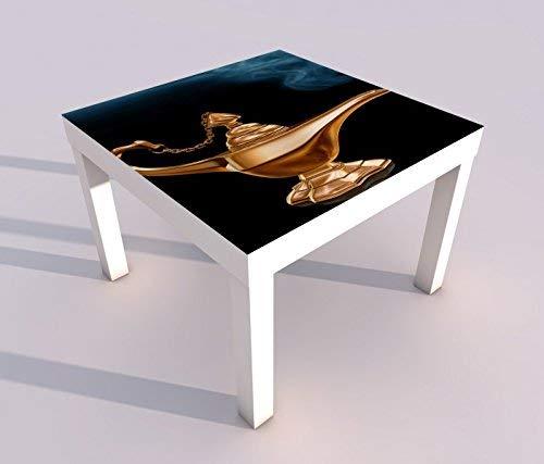 V Druck 55x55cm Kinderzimmer Märchen Lampe Dschinn Spieltisch Lack Tische Bild Bilder Kinderzimmer Möbel 18A1691, Tisch 1:55x55cm ()
