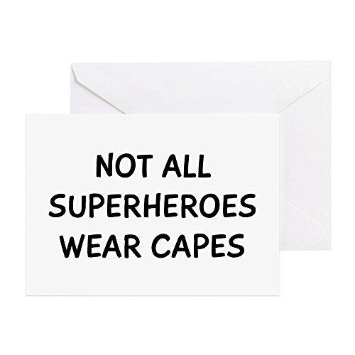 Superheroes-Grußkarte, Note Karte, Geburtstagskarte, innen blanko, glänzend ()