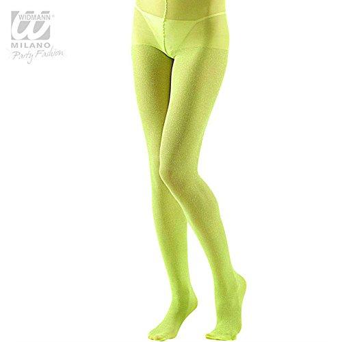 Glitter-Strumpfhose PANTYHOSE XL lime (Punk Kostüme Ideen)