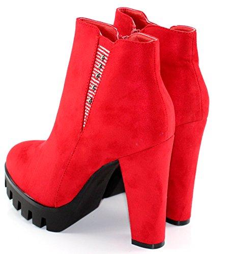Damen Stiefeletten Modelisa Rot Stiefel A6156 amp; Z56qwpRx