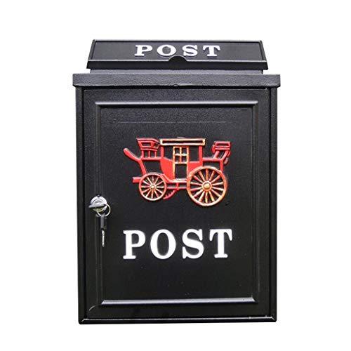 HLJ Kreative Outdoor Wasserdichte Villa Mailbox Retro Briefkasten Europäischen Briefkasten Einbruchsichere Postbox