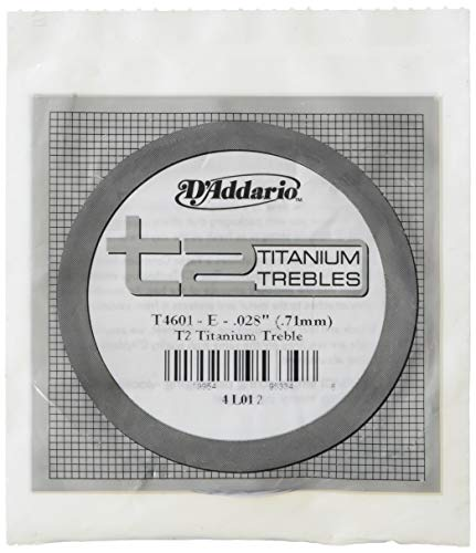 D'Addario T4601 Pro Arte Klassik E Einzelsaite T2 Titanium, Hard Tension (Titan-gitarren-saiten)