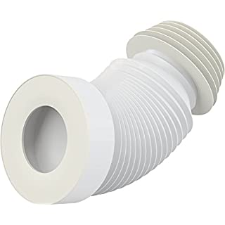 Pan Connector - Ex Short - Universal WC Flexi - Fits Pipe 100-120mm, WC 80-110mm