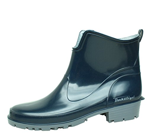 BOCKSTIEGEL® ELKE Damen - Modische Gummihalbstiefel (36-43 Half Rubber Boots) Dk-Blue/Grey