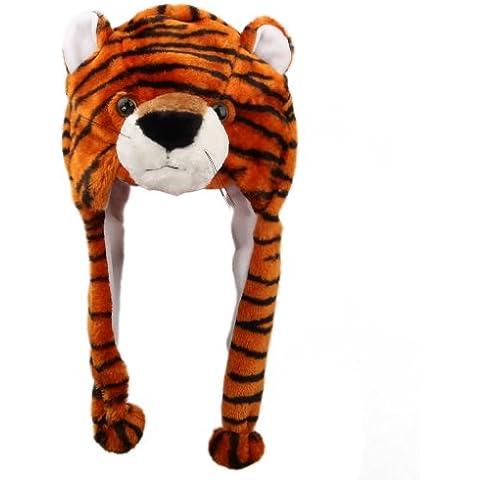 V-SOL Sombrero / Gorro De Felpa Para Adulto Y Niños Animal Tigre