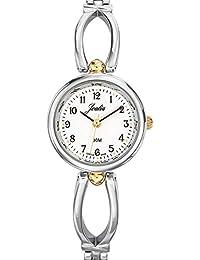 Joalia-634573-Reloj para mujer cuarzo, analógico, correa de metal, color marrón oscuro y claro