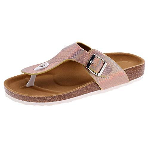 Cebbay Femmes Tongs Mixte Adulte Été Sandales Plates de Plage Pantoufles Chaussures