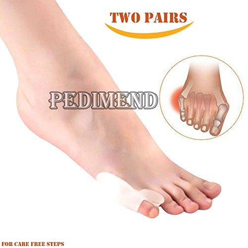 pedimen entzündeten Fußballen Hilfe Corrector Splint-Kleine Pinky Fuß Tailor 's entzündeten Fußballen Schmerzen Relief Pads-PREMIUM Gel Kissen mit Zehenspreizer-Best Foot Orthotics Hilfe und schützende Zehen Straightener Sleeve-Hornhaut Relief Wrap-Foot Care - Pinky-zehe-ärmel