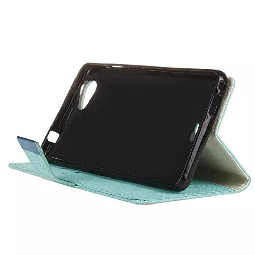 WIKO Slade 2 Case, Rätsel PalaceTexture Pattern Ledertasche Flip Stativ Wallet Kofferabdeckung mit Magnetic Clousre & Wallet Card Slots für WIKO Slade 2 ( Color : Gold , Size : WIKO Slade 2 ) Green