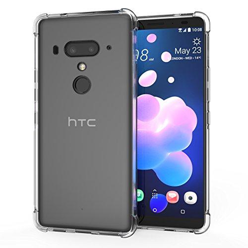 3255626ad44 Caseflex HTC U12 Plus Silicona, Transparente [Anti Shock] TPU Gel Funda  Carcasa –