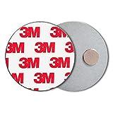 ECENCE Rauchmelder Magnethalter 10 Stück Selbstklebende Magnethalterung für Rauchmelder Ø 50mm schnelle & sichere Montage ohne Bohren und Schrauben für alle Feuermelder und Rauchwarnmelder 71010103