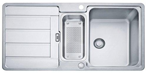 Preisvergleich Produktbild HDX 254 965x510mm, reversibel, Edelstahl gebuerstet, 3 1/2' Integral,mit Druckknopfventil
