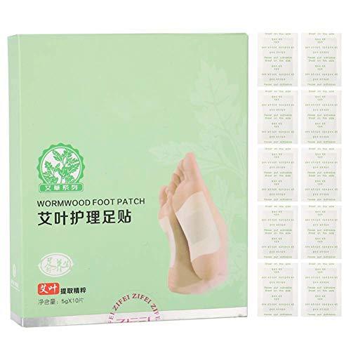 10Pcs Foot Pads, entfernen Toxin Pads, natürliche Wermut Fußkleber, Health Care Foot Patch für die Körperkonditionierung