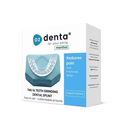 Ozdenta stecca per morso con protezione dentale, guida croccante e guida per telaio (senza bpa) 2 pezzi 2 pezzi mentolo aquamarine