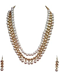A2 Fashions Kundan Pearl Rani Haar Necklace Set For Women And Girls