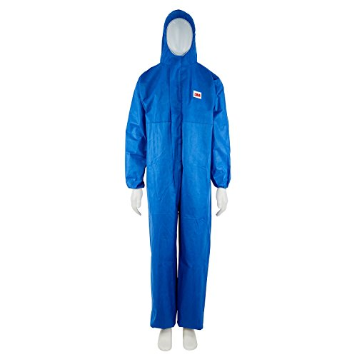 3M Protective Coverall, Type 5/6, 4515-B-L - Large, Blue Test