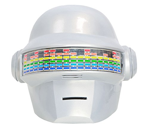 DealTrade Thomas Punk Helm Cosplay Kostüm Halloween Sprachsteuerung Erwachsene LED Weiß PVC Vollkopf Maske Fancy Dress Prop (Kostüme Awesome Fancy Dress)
