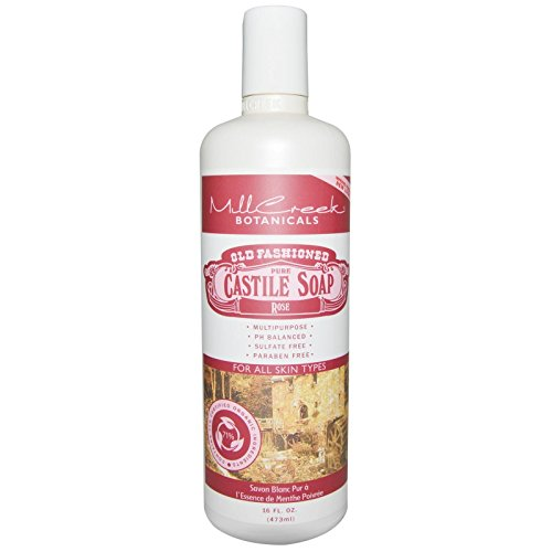 Reine Kastilien Seife (Altertümlich Reines Kastilien Seife, Rose, 16 Flüssigunzen (473 ml) - Mill Creek)