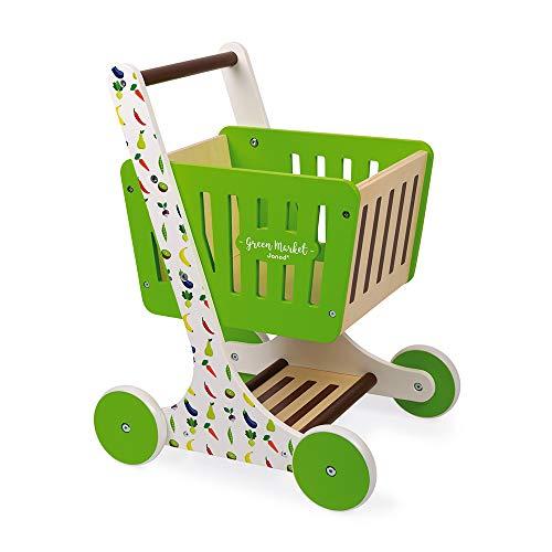 Janod Chariot de Courses Green Market (Bois)