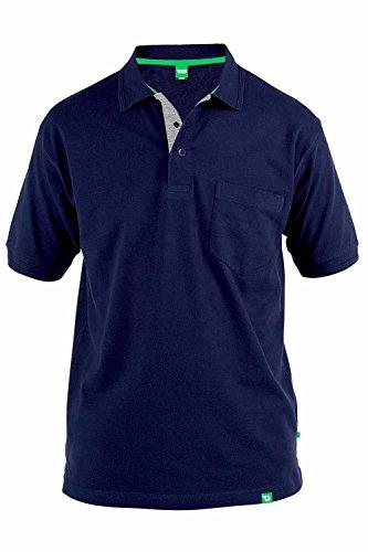 D555 - Chemise casual - Manches Courtes - Homme Bleu - Bleu marine