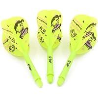 CUESOUL Rost Integrated Dart Shaft and Flights Pear-Teardrop Shape,Set of 3 pcs Cute Girl Pattern(CSAK-53SDNH)