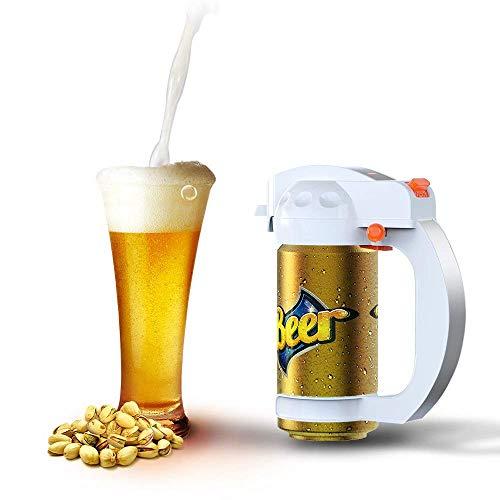 Cocoda Bierspender Beer Foamer, Tragbarer Ultraschall-Aufschäumer Batterie-betriebener Bierschäumer Sahne-Schaum, Bier Dispenser für Dosenbier, ideal für Partys, Grills, Picknicks, Camping (Weiß)