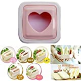 Glive's Heart Shaped Toaster Sandwich Maker Cake Cookies Bread Cutter
