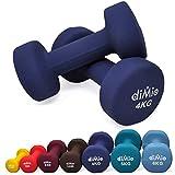 diMio 4,0 kg Neopren Gymnastik Hanteln im Doppelpack, Soft-Grip, für Fitness, Ausdauertraining und...