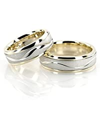 RM Jewellers CZ 92.5 Sterling Silver American Best Loving Promise Couple Band For Men And Women