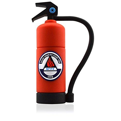 818-Shop No4300020008 Hi-Speed 2.0 USB-Sticks 8GB Feuerlöscher Feuerwehr 3D rot