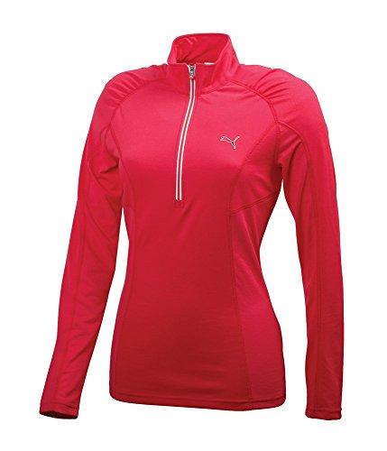 Puma t-shirt à manches longues 1/4 zip top-pull pour femme Rose - Rose Virtual