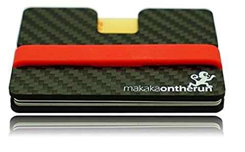 MOTR™ 5mm Minimalist Card Wallet with Key Compartment (Real Carbon Fibre). NFC & RFID blocking protection. (slim credit card wallet, thin men wallet, small designer billfold, mini rfid card