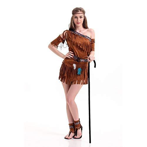 GAOJUAN Halloween Kostüm Karneval Erwachsene Cosplay Weibliche Savage Masquerade Performance Kleidung,XL (Joker Halloween-kostüm Masquerade)