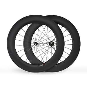 baixiang 700C 88mm tubulaire Route Vélo de course Carbone Roues Roues pour Shimano