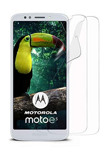 moex 2X Motorola Moto E5   Schutzfolie Klar Bildschirm Schutz [Crystal-Clear] Screen Protector Display Handy-Folie Dünn Bildschirmschutz-Folie für Motorola Moto E5 Bildschirmfolie